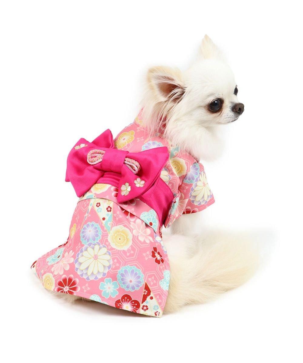 PET PARADISE 犬 服 着物 〔小型犬〕 折鶴  お正月 新年 年賀状 初詣 SNS インスタ映え 着ぐるみ コスチューム コスプレ ドッグウエア ドッグウェア いぬ イヌ おしゃれ かわいい ピンク(淡)