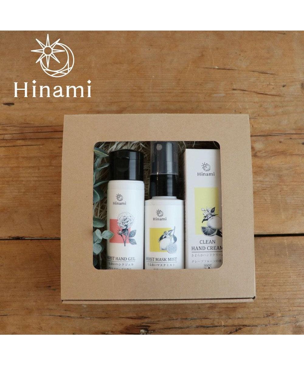 Mother garden Hinami きよらか ハンドクリーム グレープフルーツの香り 30g &マスクミスト レモンの香り 50mL &うるおいハンドジェル ダマスクローズの香り 50mL  日本製 白~オフホワイト