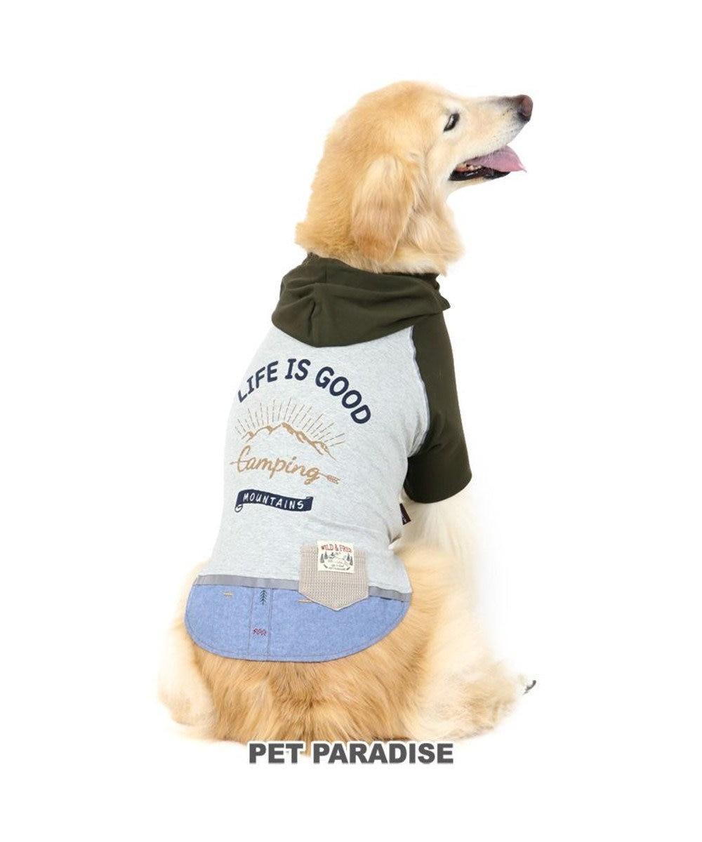PET PARADISE 犬 服 春夏 パーカー 〔中・大型犬〕 リフレクト カーキ ドッグウエア ドッグウェア イヌ おしゃれ かわいい カーキ