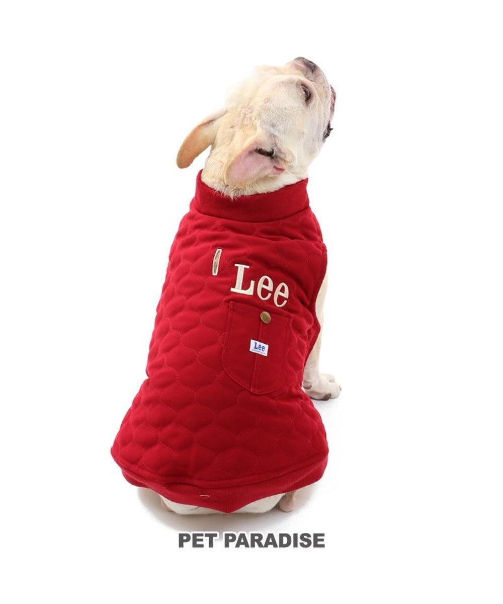 PET PARADISE 犬 服 秋服 Lee 綿入れ ベスト 〔中・大型犬〕 オニオン キルティング 赤 ペットウエア ペットウェア ドッグウエア ドッグウェア 中型犬 大型犬 赤