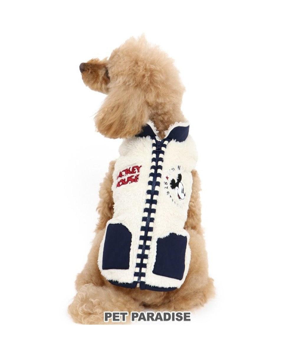 PET PARADISE 犬 服 秋服 ディズニー ミッキーマウス ベスト 〔小型犬〕 背開き ペア柄 犬服 犬の服 犬 服 ペットウエア ペットウェア ドッグウエア ドッグウェア ベビー 超小型犬 小型犬 白~オフホワイト
