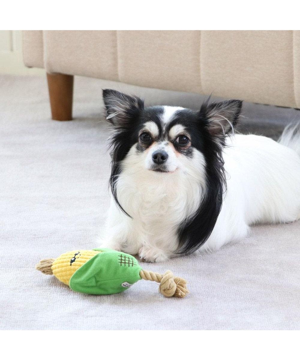 PET PARADISE 犬用品 ペットグッズ 犬 おもちゃ ペットパラダイス 犬 トイ TOY 焼きもろこし おもちゃ | 音が鳴る ぬいぐるみ ボール ロープ オモチャ 玩具 トイ TOY 小型犬 猫 かわいい おもしろ インスタ映え 黄
