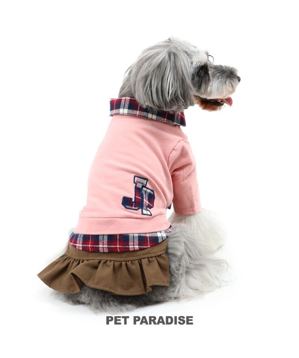 PET PARADISE 犬 服 J.PRESS スカートつなぎ 〔小型犬〕 ロゴ シャツ 犬服 犬の服 犬 服 ペットウエア ペットウェア ドッグウエア ドッグウェア ベビー 超小型犬 小型犬 ピンク(淡)