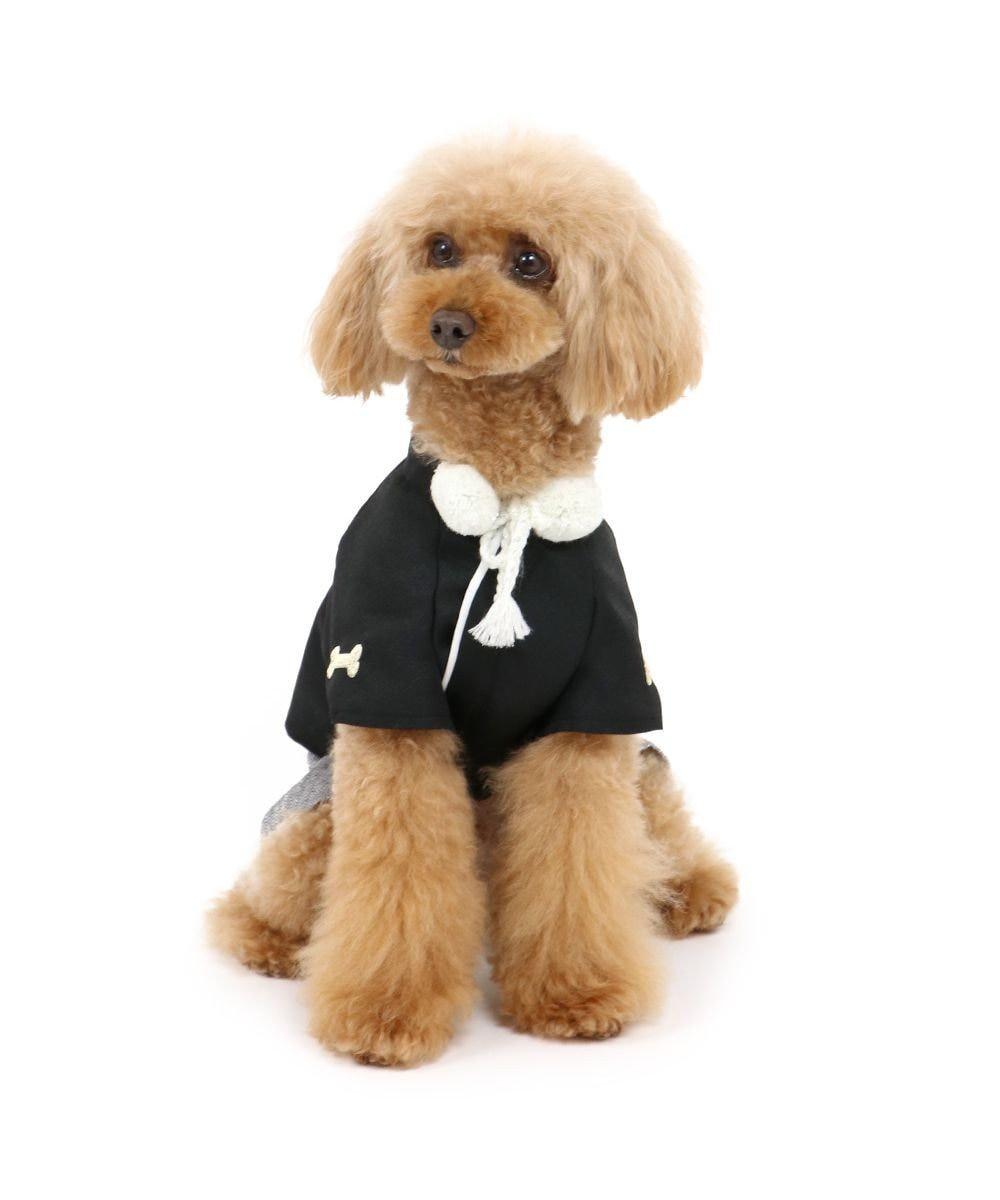 PET PARADISE 犬 服 秋服 羽織袴 〔小型犬〕 黒 はかま お正月 新年 年賀状 初詣 SNS インスタ映え 着ぐるみ コスチューム コスプレ ドッグウエア ドッグウェア いぬ イヌ おしゃれ かわいい 黒