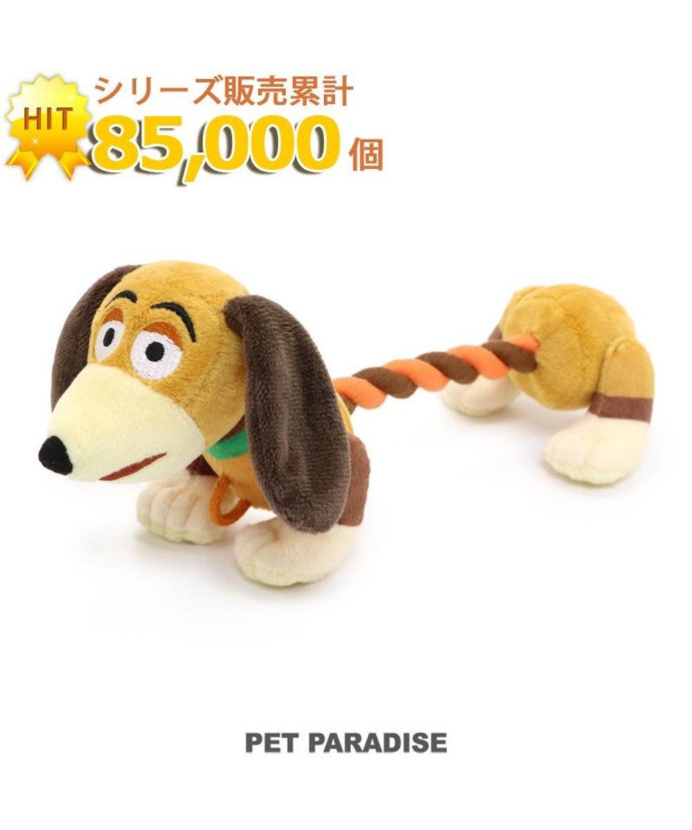 PET PARADISE 犬用品 ペットグッズ 犬 おもちゃ ペットパラダイス 犬 おもちゃ ロープ ディズニー トイ・ストーリー スリンキー 大   おうちで遊ぼう おうち時間 犬 おもちゃ オモチャ ペットのペットトイ 玩具 TOY 小型犬 おもちゃ かわいい おもしろ 茶系