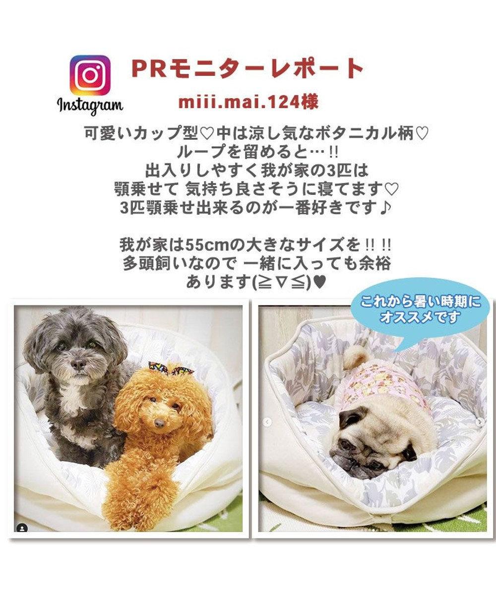 PET PARADISE 犬 春夏 クール 接触冷感 ペット ベッド 丸型カドラーベッド (55cm) カップカドラー 夏 ひんやり 涼感 冷却 クール 洗える 犬 猫 ペットベット ハウス 小型犬 介護 ふわふわ クッション ベージュ