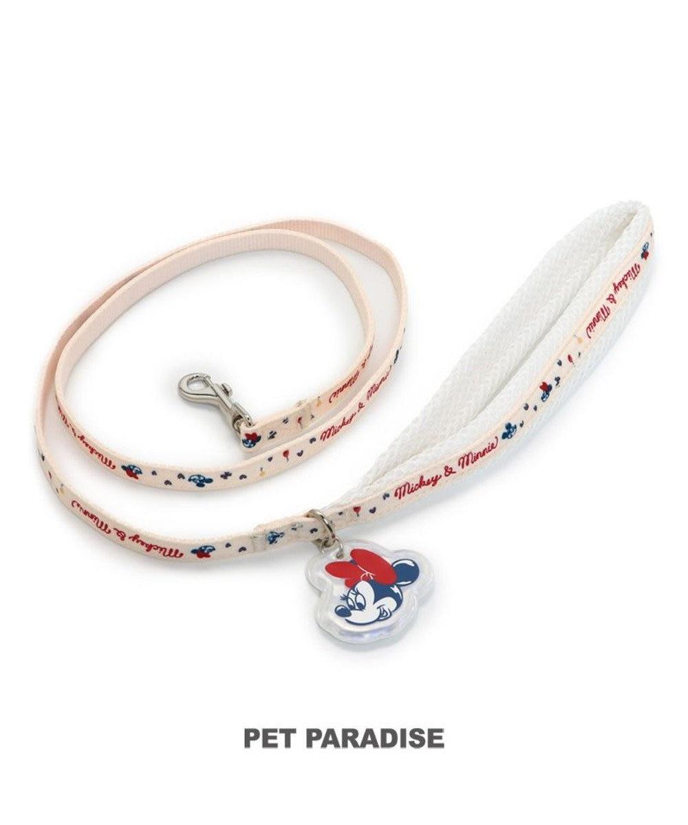 PET PARADISE 犬 リード ディズニー ミニーマウス 【4S~3S】  小型犬 おさんぽ おでかけ お出掛け おしゃれ オシャレ かわいい 赤