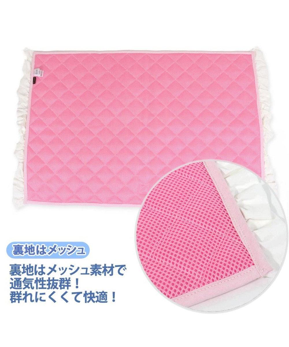 PET PARADISE ペットパラダイス 接触冷感 柔らか ボーダー クールマット 大 (100×60cm) ピンク(淡)