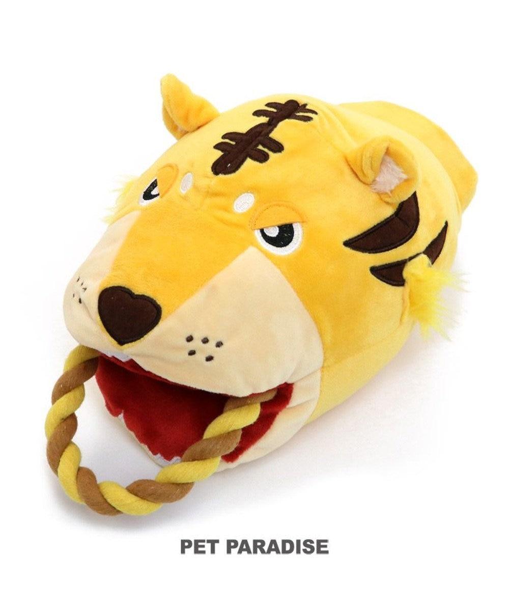 PET PARADISE 犬 おもちゃ トラ パペット おもちゃ  トイ TOY 虎 とら お正月 年賀状 干支 音が鳴る ぬいぐるみ ボール ロープ オモチャ 玩具 小型犬 おもちゃ 猫 かわいい おもしろ インスタ映え 黄