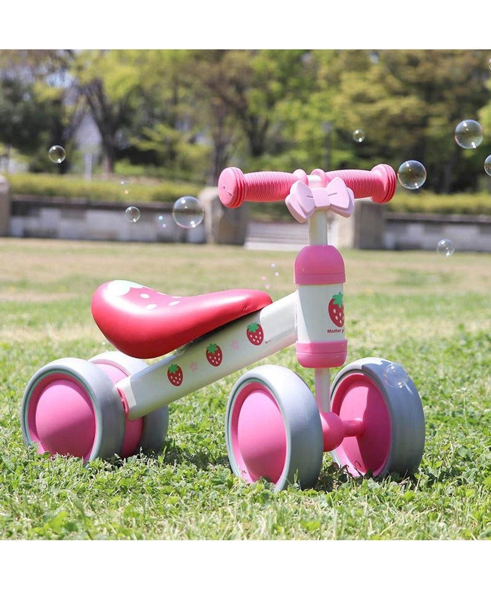 Mother garden マザーガーデン 野いちご バランスミニバイク 自転車 三輪自転車 幼児用自転車 ペダルなし トレーニングバイク チャレンジバイク 1歳 誕生日 プレゼント ギフト お祝い 女の子 バイク 乗物玩具 赤