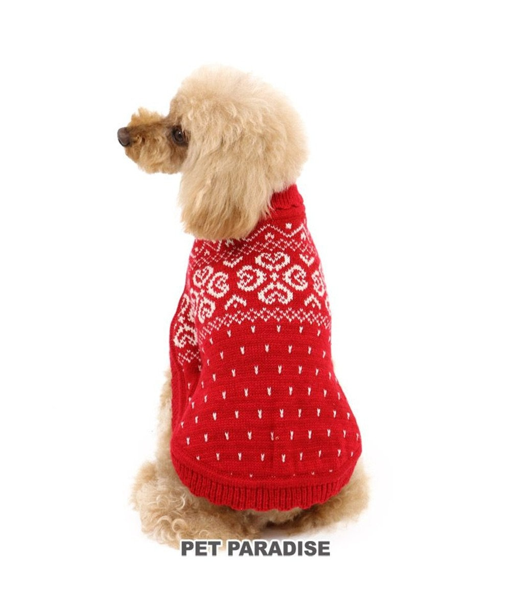 PET PARADISE 犬 服 秋服 ニット ポンチョ 〔小型犬〕 赤 犬服 犬の服 犬 服 ペットウエア ペットウェア ドッグウエア ドッグウェア ベビー 超小型犬 小型犬 赤