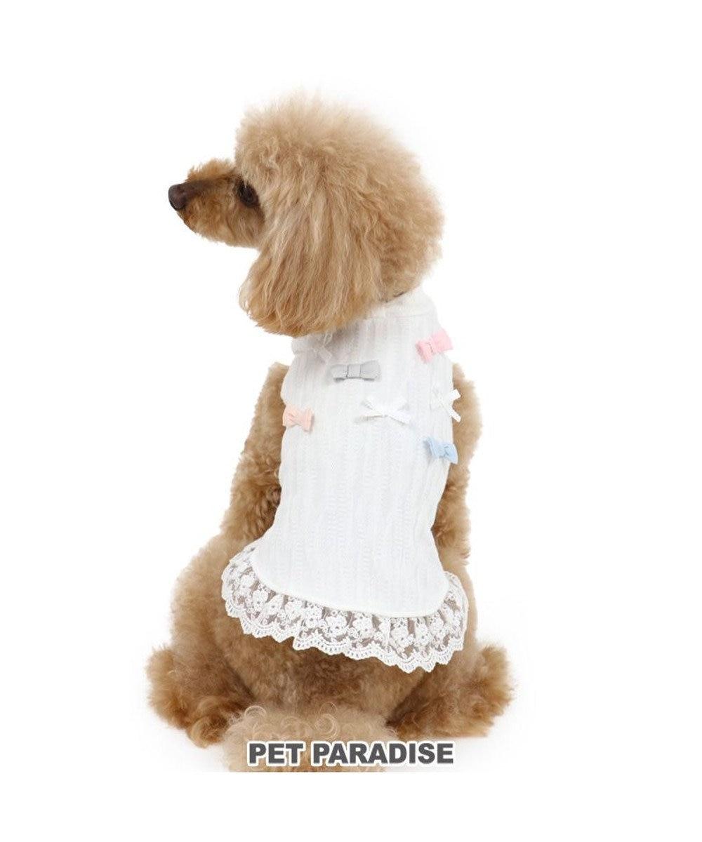 PET PARADISE 犬 服 春夏 タンクトップ 〔小型犬〕 リボン 白 ドッグウエア ドッグウェア イヌ おしゃれ かわいい 白~オフホワイト