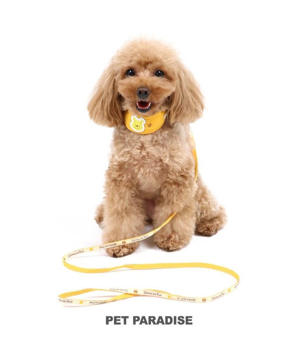 PET PARADISE 犬 首輪 ディズニー くまのプーさん リード付き 【4S~SS】 小型犬 おさんぽ おでかけ お出掛け おしゃれ オシャレ かわいい キャラクター 黄