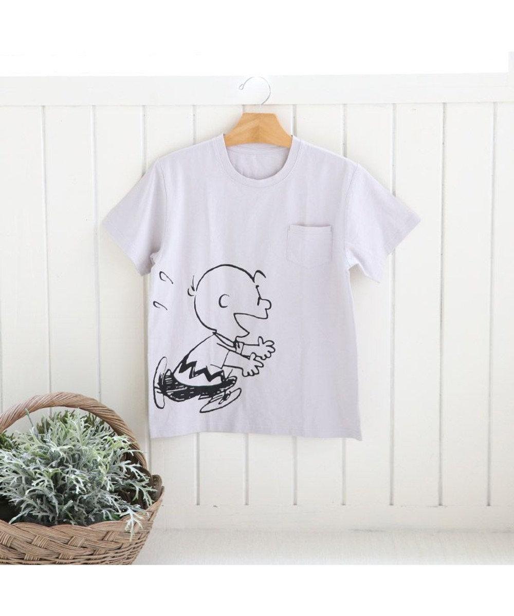 PET PARADISE おそろい ユニセックス ペットパラダイス 犬 服 スヌーピー お揃い Tシャツ オーナー用 ハッピー | おそろい 灰 グレー キャラクター グレー