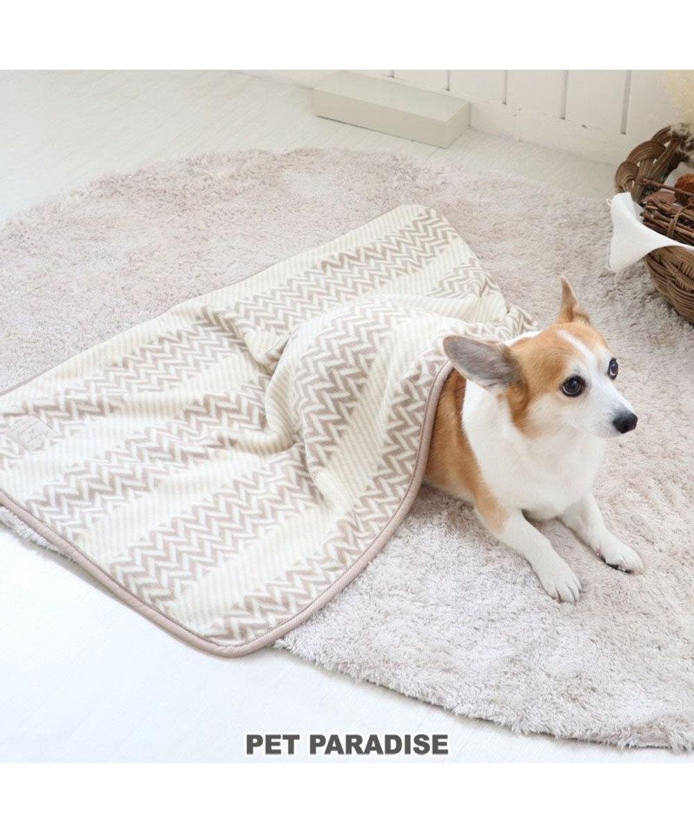 PET PARADISE 犬 猫 毛布 ブランケット (90×60cm) ボア ひざかけ ステイマット あったか -