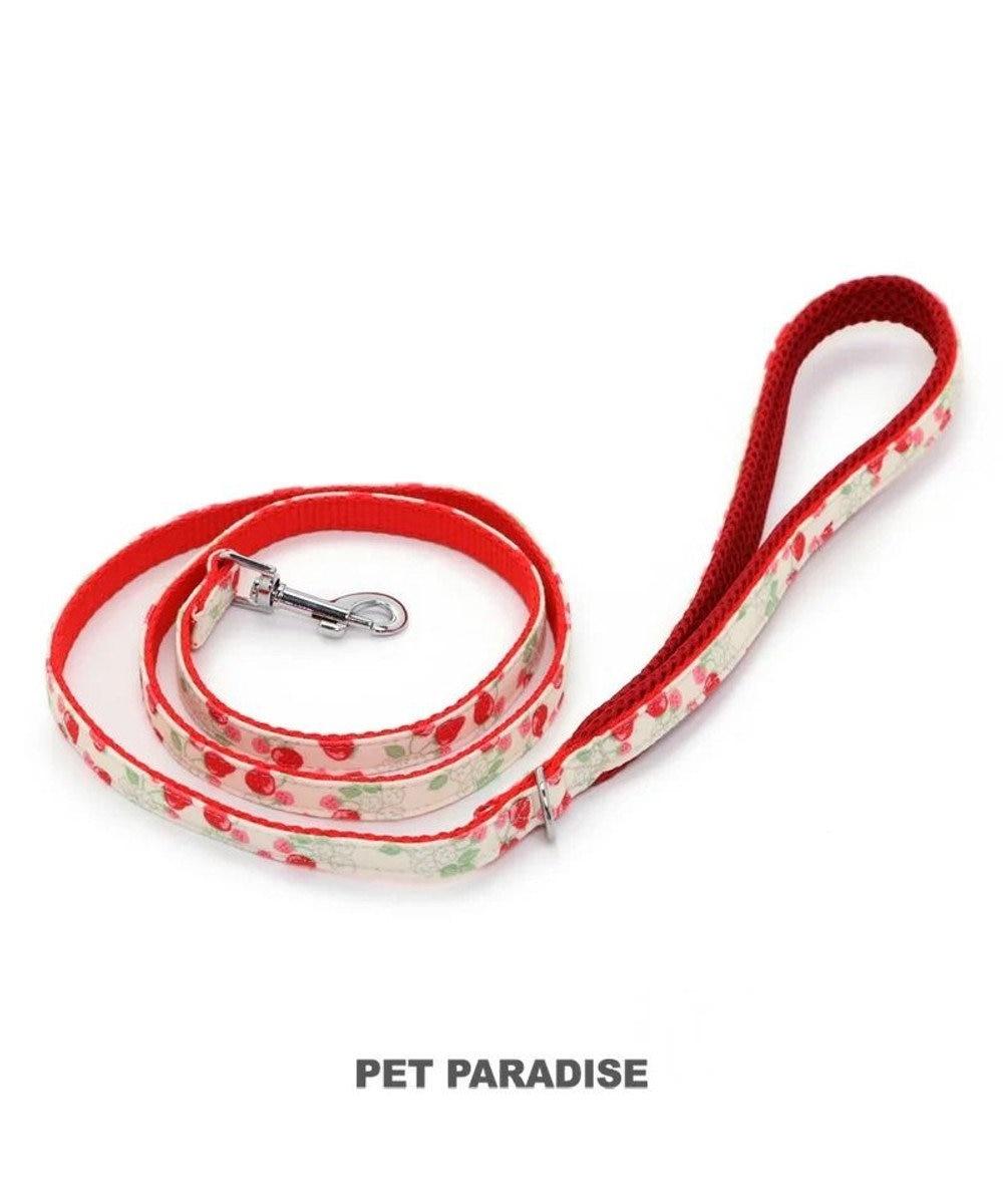 PET PARADISE ペットパラダイス 苺柄 リード  ペットSM〔中型犬〕 赤