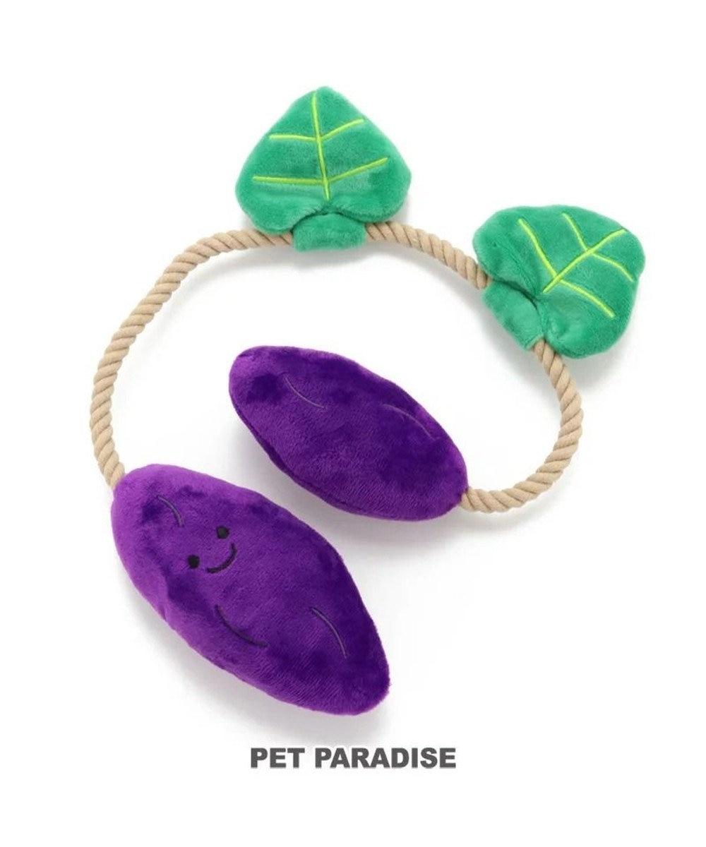 PET PARADISE 犬用品 ペットグッズ 犬 おもちゃ ペットパラダイス 犬 おもちゃ ロープ つる付き さつまいも  おうちで遊ぼう おうち時間 犬 おもちゃ オモチャ ペットのペットトイ 玩具 TOY 小型犬 おもちゃ かわいい おもしろ インスタ映え 黒