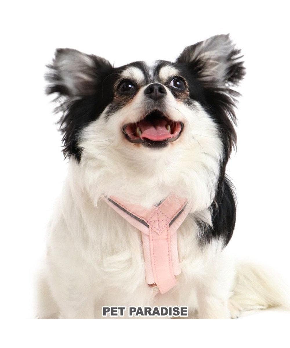 PET PARADISE 犬 ハーネス 【SM】 アクティブハーネス りぼん 中型犬 リボン おさんぽ おでかけ お出掛け おしゃれ オシャレ かわいい ピンク(淡)