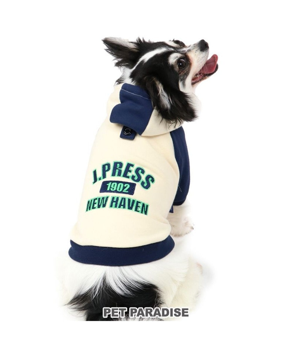 PET PARADISE 犬 服 J.PRESS パーカー 〔小型犬〕 配色 ロゴ 犬服 犬の服 犬 服 ペットウエア ペットウェア ドッグウエア ドッグウェア ベビー 超小型犬 小型犬 白~オフホワイト