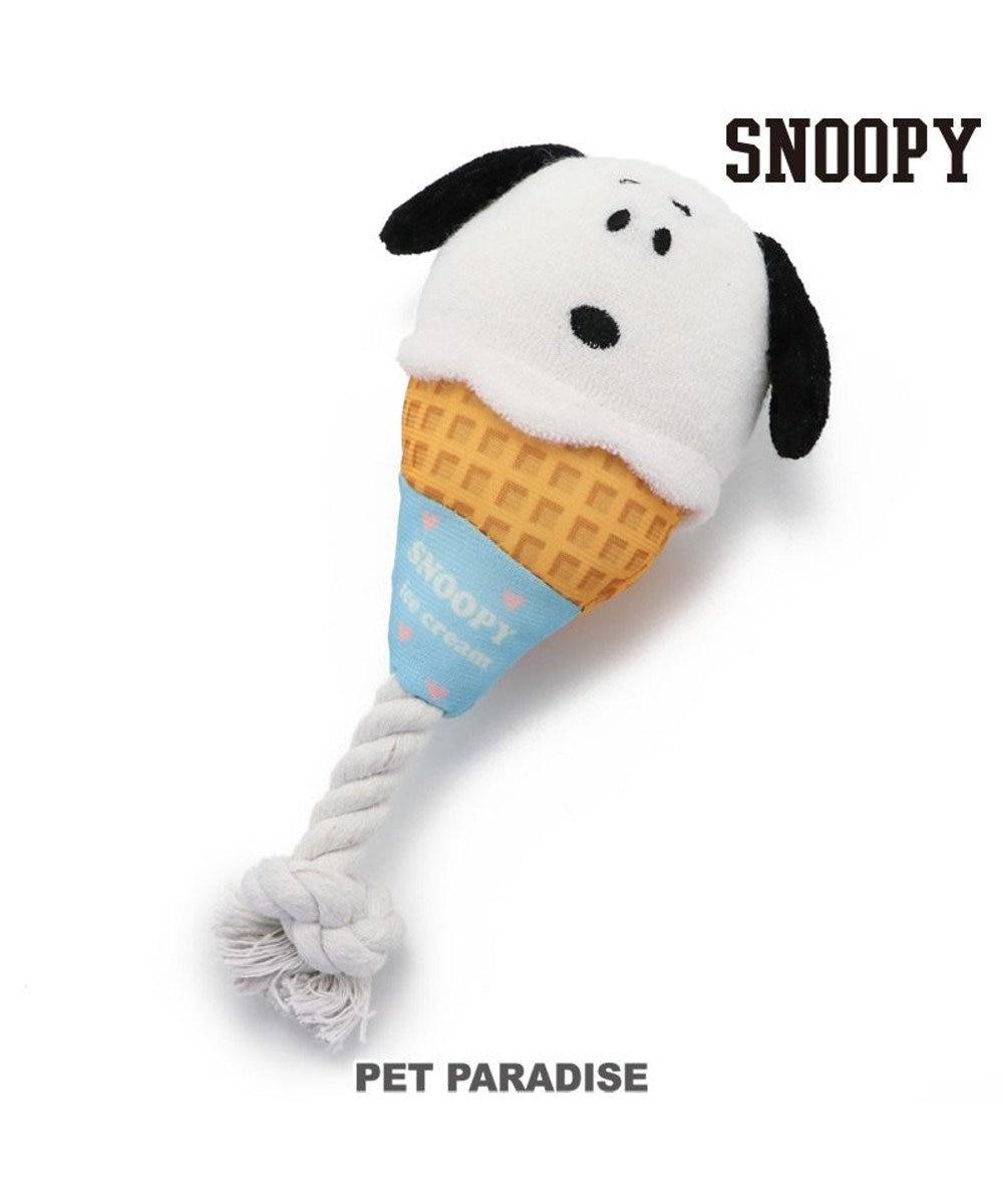 PET PARADISE 犬 トイ TOY ペットパラダイス スヌーピー アイスクリーム おもちゃ 白~オフホワイト