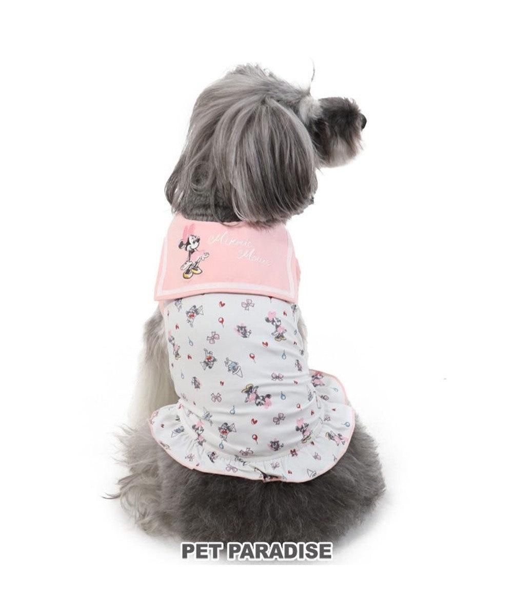 PET PARADISE 犬服 犬 服 ペットパラダイス ディズニー ミニーマウス クール 接触冷感 虫よけ セーラー タンクトップ 〔小型犬〕 超小型犬 小型犬 天竺 ひんやり 夏 涼感 冷却 吸水速乾 クールマックス ピンク(淡)