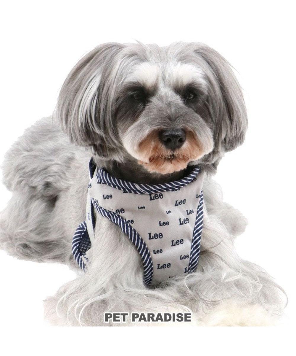 PET PARADISE 犬 ハーネス Lee 【SS】 総柄ロゴ 小型犬 おさんぽ おでかけ お出掛け おしゃれ オシャレ かわいい  紺(ネイビー・インディゴ)