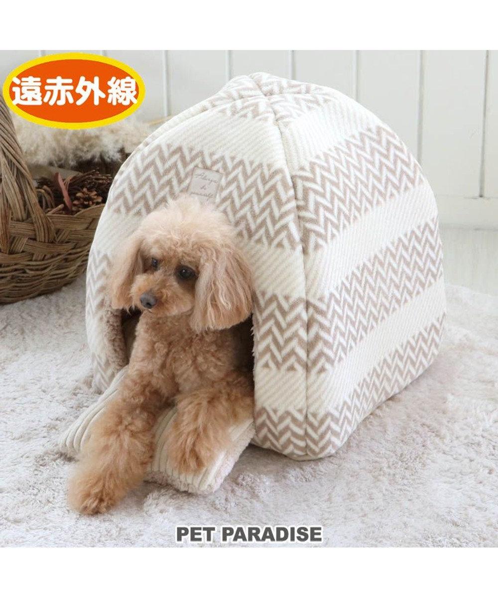 PET PARADISE 犬 ベッド おしゃれ 遠赤外線 ハウス ボア 暖かい あったか 保温 防寒 防寒対策 猫 ハウス介護 おしゃれ かわいい ふわふわ クッション ソファ カドラー あごのせ -