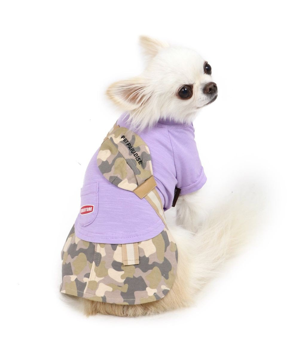 PET PARADISE 犬服 犬 服 ペットパラダイス 迷彩 ポケット スカートつなぎ 〔小型犬〕 超小型犬 小型犬 マルチカラー