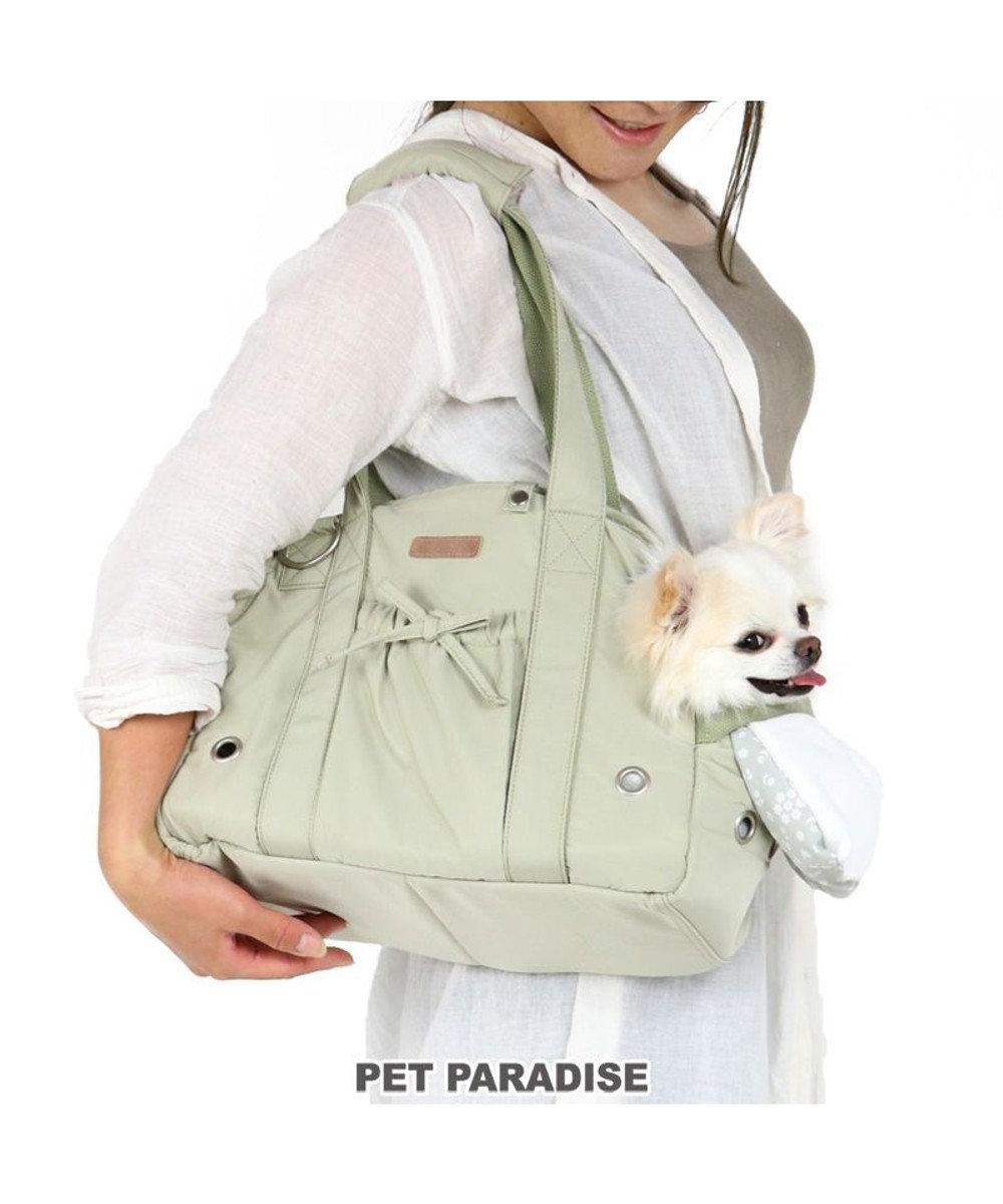PET PARADISE 犬 キャリー キャリーバッグ 〔超小型犬〕 ピスタチオ キャリーバック ショルダー イヌ ドック ペット用品 おしゃれ かわいい 猫 カーキ