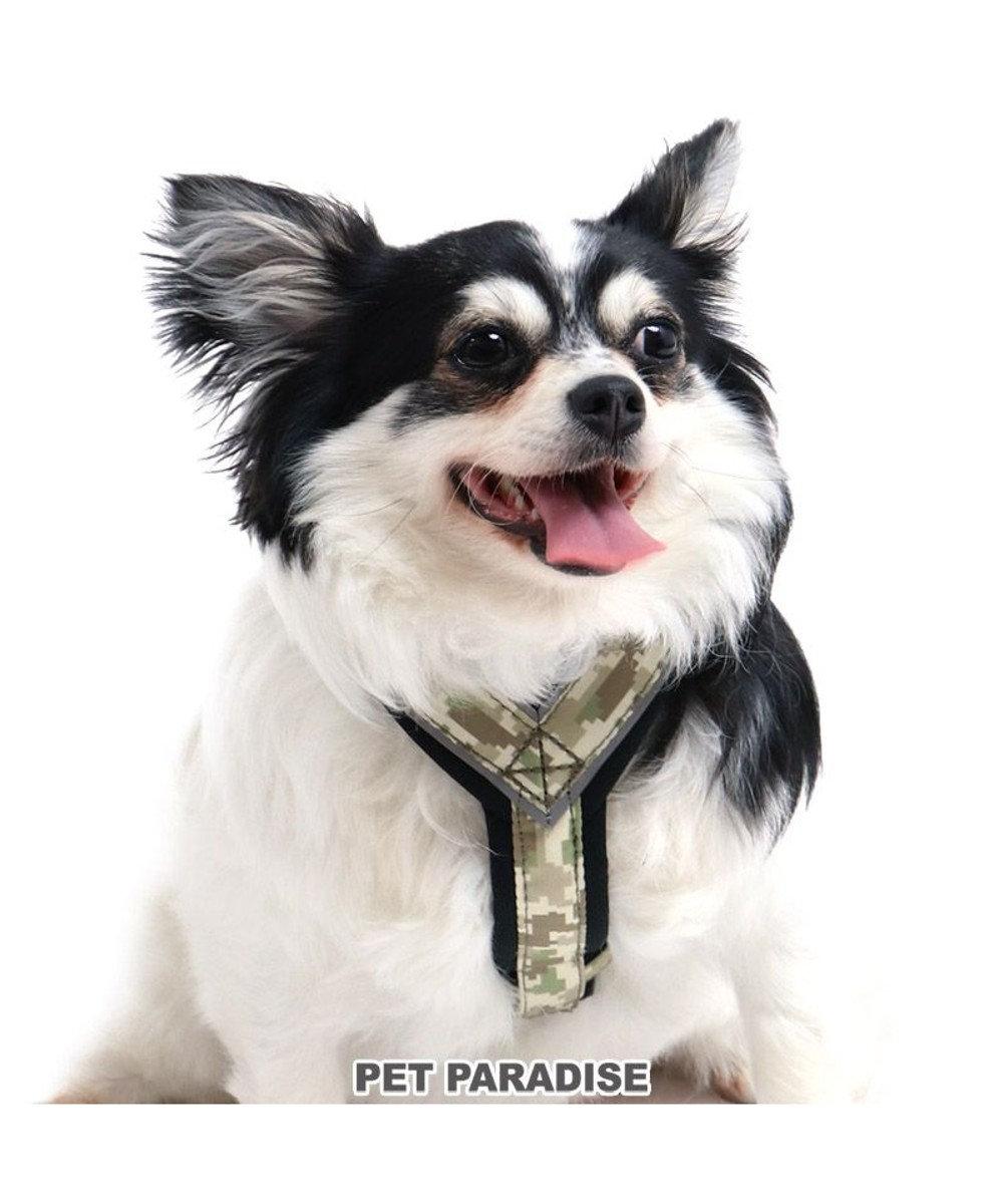 PET PARADISE 犬 ハーネス 【SM】 アクティブハーネス デジカモ 中型犬 迷彩 おさんぽ おでかけ お出掛け おしゃれ オシャレ かわいい カーキ