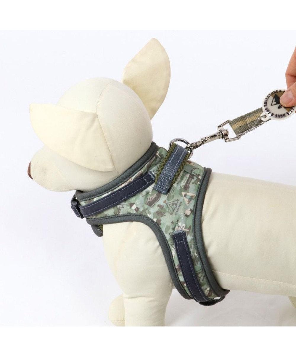 PET PARADISE 犬 ハーネス ペットパラダイス やさしい ハーネス 迷彩 3S 〔小型犬〕 カーキ