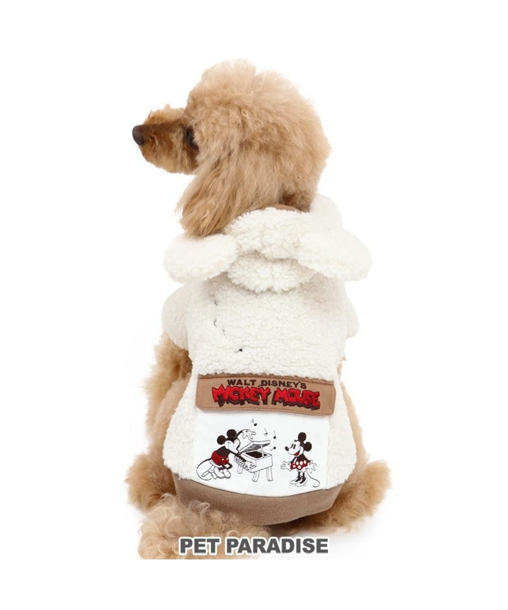 PET PARADISE 犬 服 秋服 ディズニー ミッキーマウス パーカー 〔小型犬〕 フラップポケット 犬服 犬の服 犬 服 ペットウエア ペットウェア ドッグウエア ドッグウェア ベビー 超小型犬 小型犬 白~オフホワイト