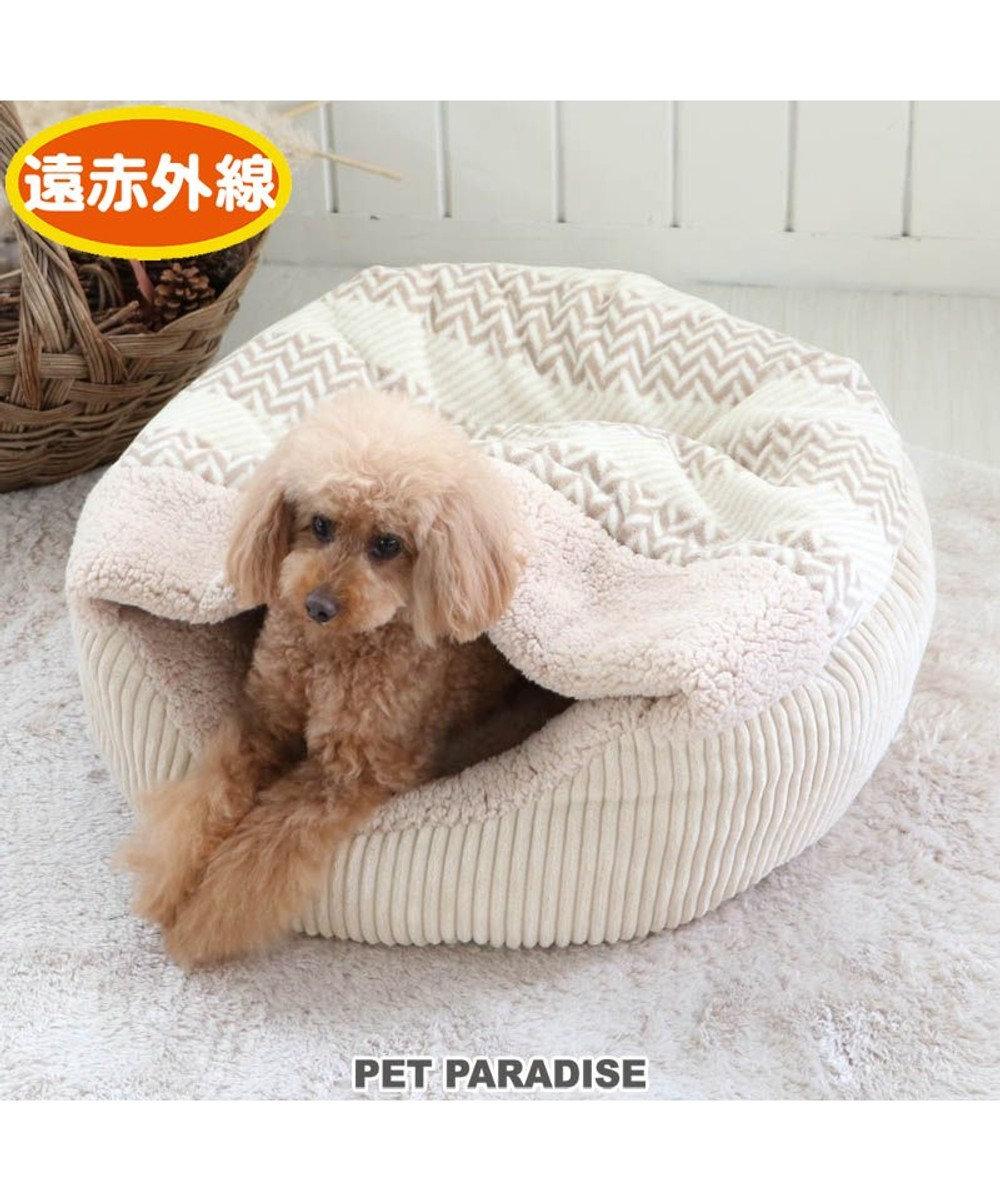 PET PARADISE 犬 ペット ベッド 遠赤外線 丸型 寝袋 (60cm) ボア 暖かい あったか 保温 防寒 防寒対策 もこもこ ふわふわ 介護 おしゃれ かわいい -