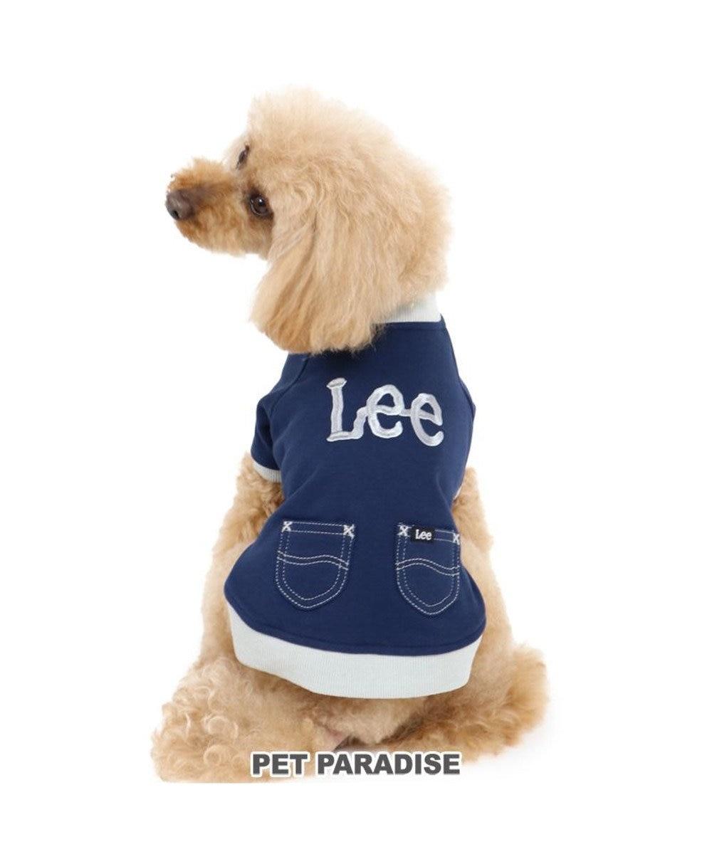 PET PARADISE 犬 服 Lee トレーナー 紺 〔小型犬〕 2トーン  犬服 犬の服 犬 服 ペットウエア ペットウェア ドッグウエア ドッグウェア ベビー 超小型犬 小型犬 紺(ネイビー・インディゴ)