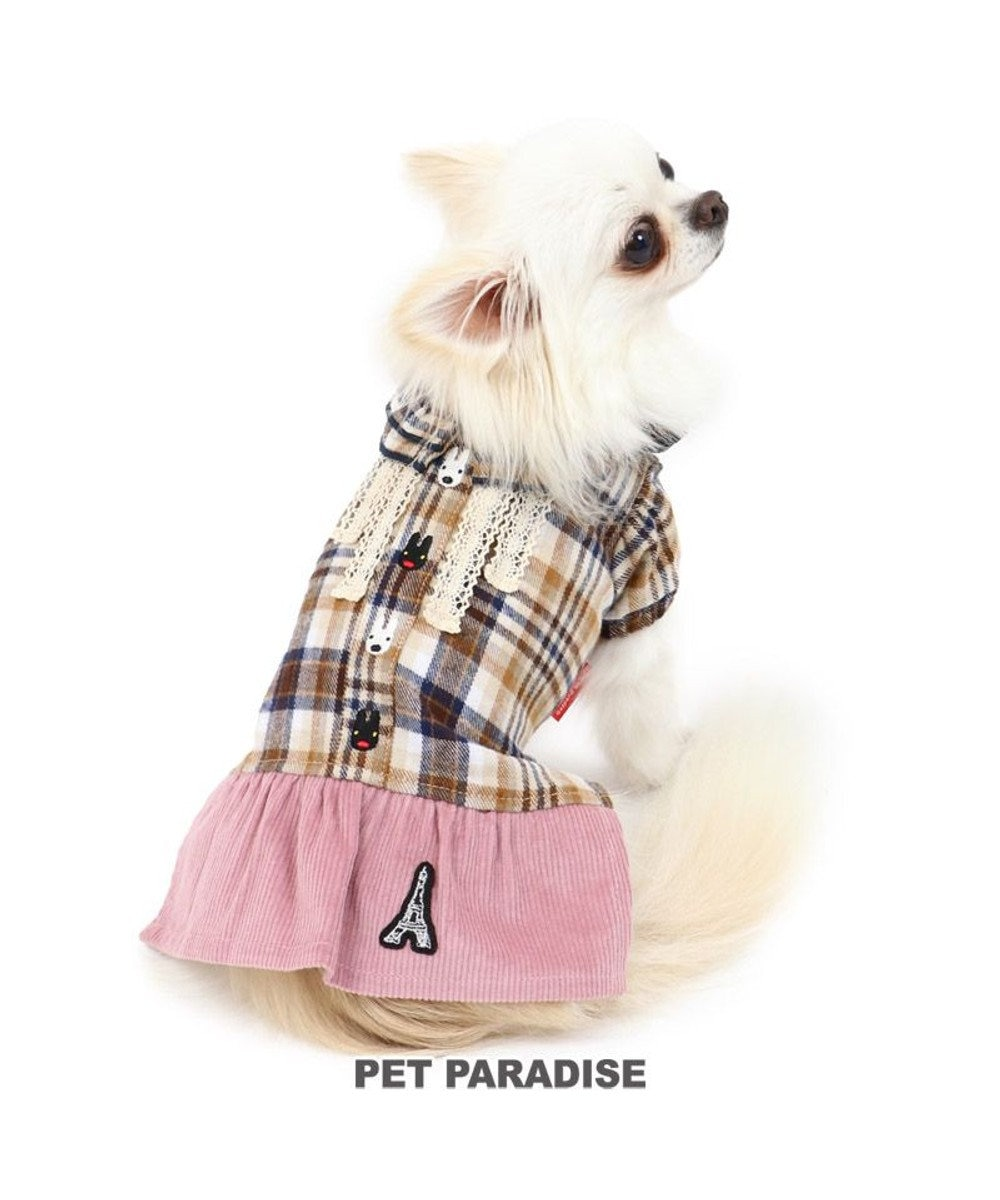 PET PARADISE 犬 服 夏 リサとガスパール スカートつなぎ 〔小型犬〕 秋色チェック 犬服 犬の服 犬 服 ペットウエア ペットウェア ドッグウエア ドッグウェア ベビー 超小型犬 小型犬 ピンク(淡)