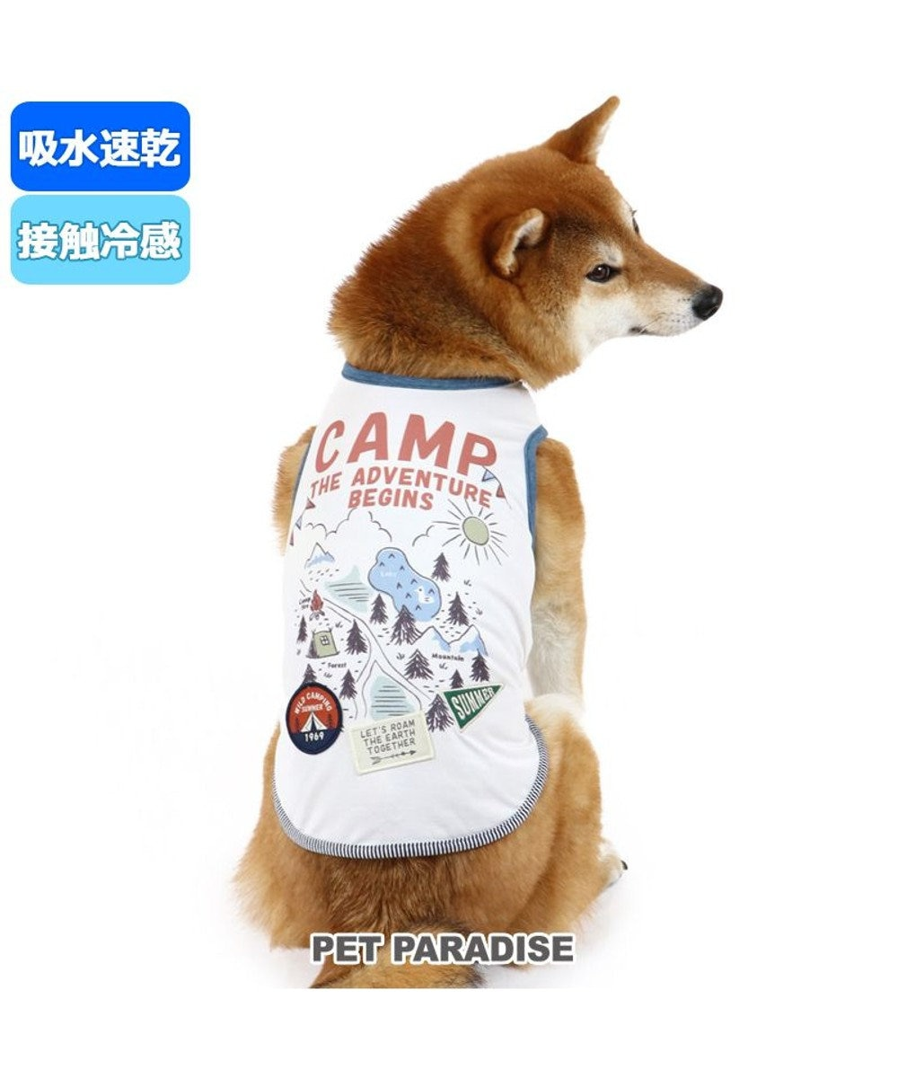PET PARADISE 犬服 犬 服 ペットパラダイス クール 接触冷感 キャンプ タンクトップ 〔中・大型犬〕 中型犬 大型犬 ひんやり 夏 涼感 冷却 吸水速乾 タッチワンクール 白~オフホワイト
