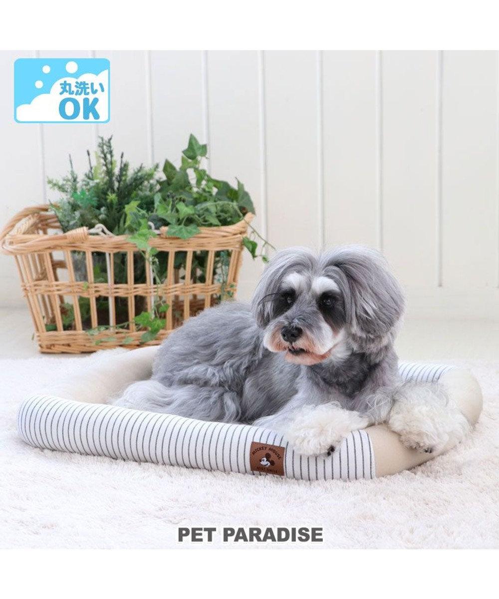 PET PARADISE 犬 カドラー ディズニー ミッキーマウス カドラーベッド (57×45cm) ウォッシャブル 洗える 犬 猫 ペットベット ハウス 小型犬 介護夏クッション グレー