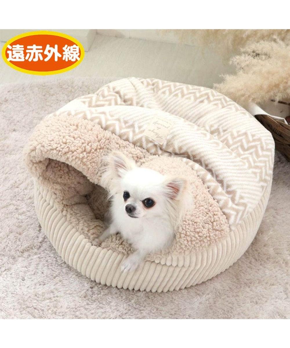 PET PARADISE 犬 ペット ベッド 遠赤外線 丸型 寝袋 (50cm) ボア 暖かい あったか 保温 防寒 防寒対策 もこもこ ふわふわ 介護 おしゃれ かわいい -