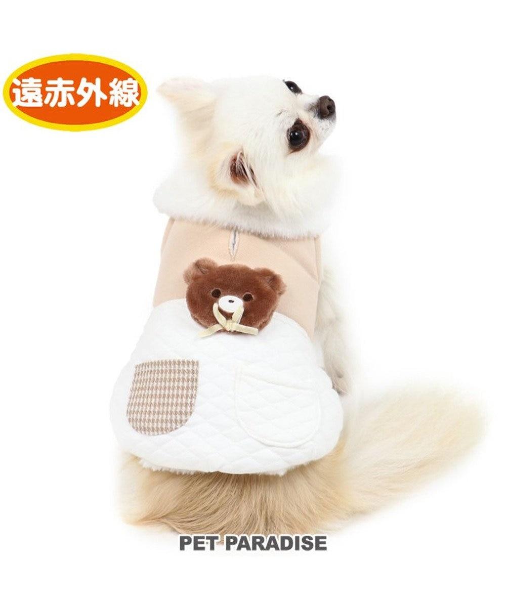 PET PARADISE 犬 服 秋服 遠赤外線 ベスト 〔小型犬〕 キルティング くま ペットウエア ペットウェア ドッグウエア ドッグウェア ベビー 超小型犬 小型犬 ベージュ