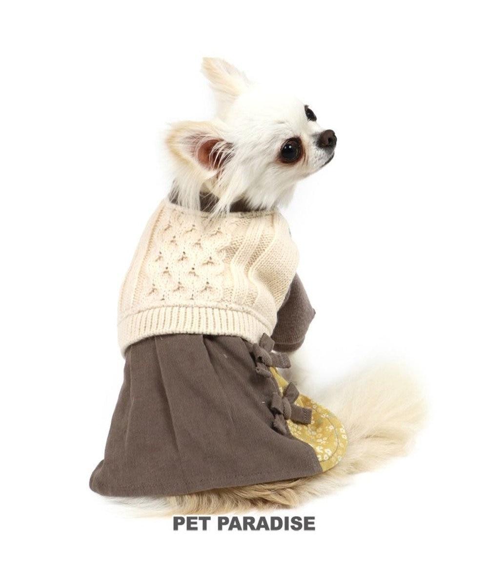 PET PARADISE 犬 服 ニット ワンピース 〔小型犬〕 灰×白 | 犬服 犬の服 犬 服 ペットウエア ペットウェア ドッグウエア ドッグウェア ベビー 超小型犬 小型犬 グレー