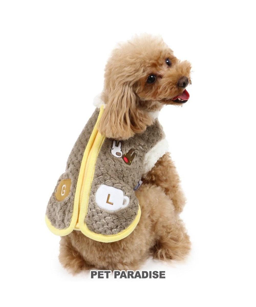 PET PARADISE 犬 服 リサとガスパール 背開き ベスト 〔小型犬〕 ラテ ジップ   犬服 犬の服 犬 服 ペットウエア ペットウェア ドッグウエア ドッグウェア ベビー 超小型犬 小型犬 グレー