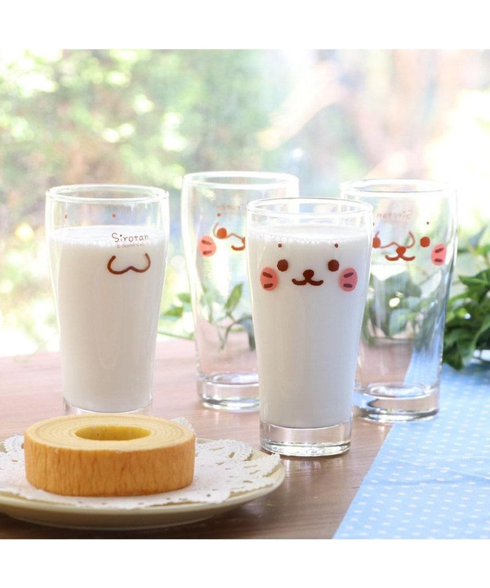 Mother garden しろたん 《顔ボン柄》 グラス6個セット グラスセット ガラスコップ キッチン用品 ギフト プレゼント あざらし アザラシ かわいい キャラクター -