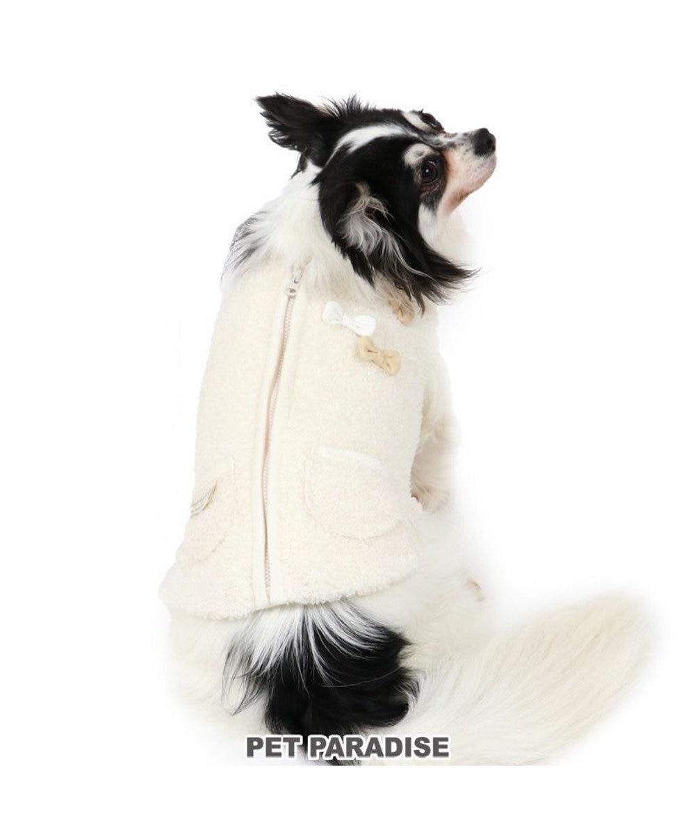 PET PARADISE 犬 服 秋服 ベスト 〔小型犬〕 りぼん 背開き ボア 白 犬服 犬の服 犬 服 ペットウエア ペットウェア ドッグウエア ドッグウェア ベビー 超小型犬 小型犬 白~オフホワイト