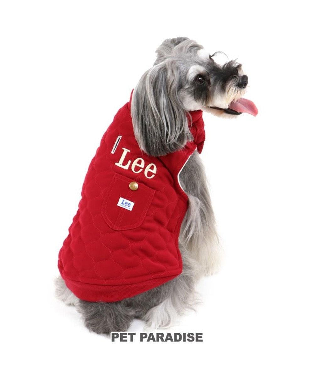 PET PARADISE 犬 服 秋服 Lee 綿入れ ベスト 〔小型犬〕 オニオン キルティング 赤 ペットウエア ペットウェア ドッグウエア ドッグウェア ベビー 超小型犬 小型犬 赤