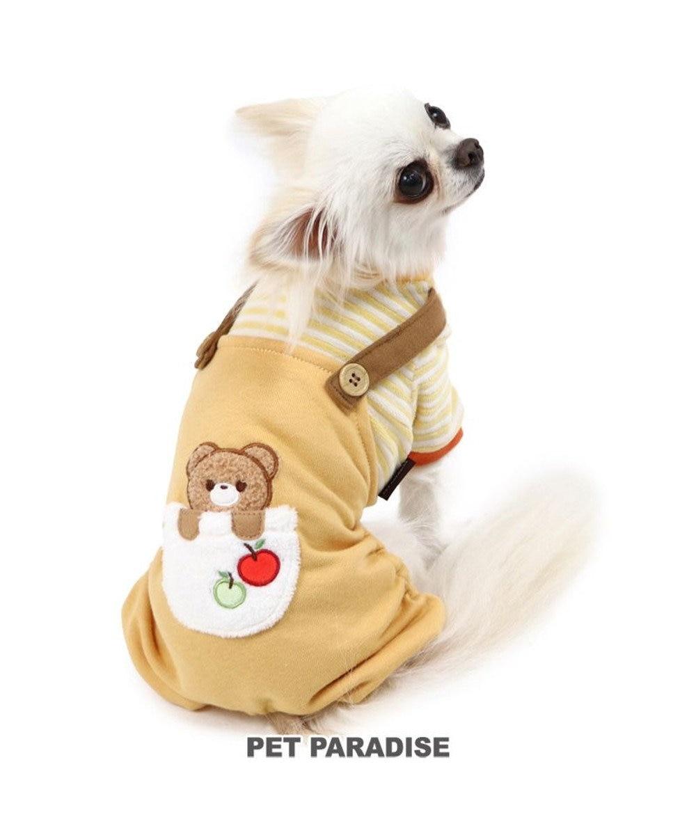 PET PARADISE 犬 服 パンツつなぎ 〔小型犬〕 くまポケット 犬服 犬の服 犬 服 ペットウエア ペットウェア ドッグウエア ドッグウェア クマ 熊 兎 ウサギ ベビー 超小型犬 小型犬 黄