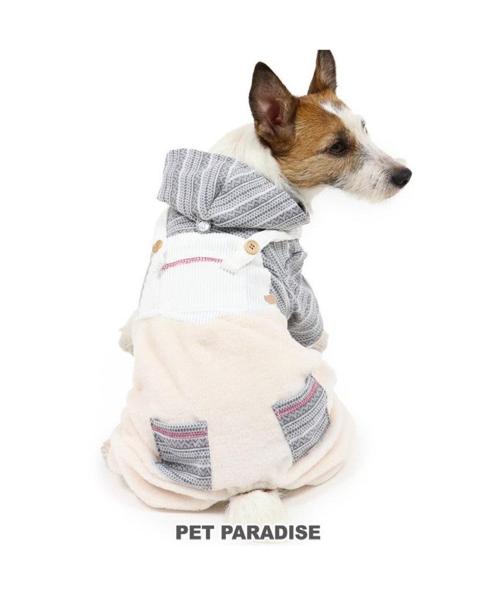 PET PARADISE 犬 服 パンツつなぎ 〔小型犬〕 フェア柄ボア | 犬服 犬の服 犬 服 ペットウエア ペットウェア ドッグウエア ドッグウェア ベビー 超小型犬 小型犬 グレー