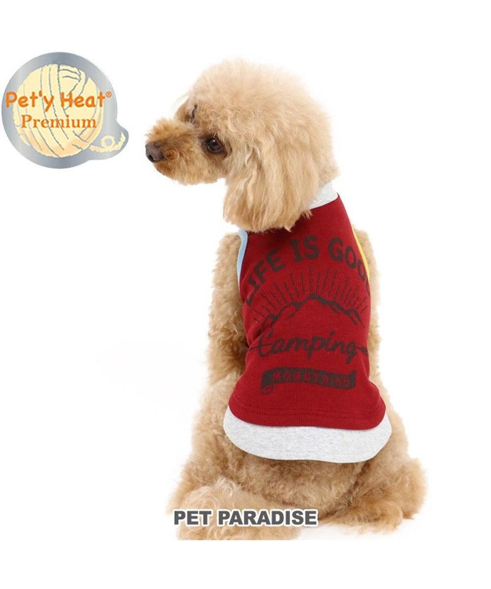 PET PARADISE 犬 服 秋服 タンクトップ 〔小型犬〕 重着風 ペティヒートプレミアム 暖かい あったか 保温 防寒 防寒対策 インナー 室内着 軽量 発熱 伸縮 赤