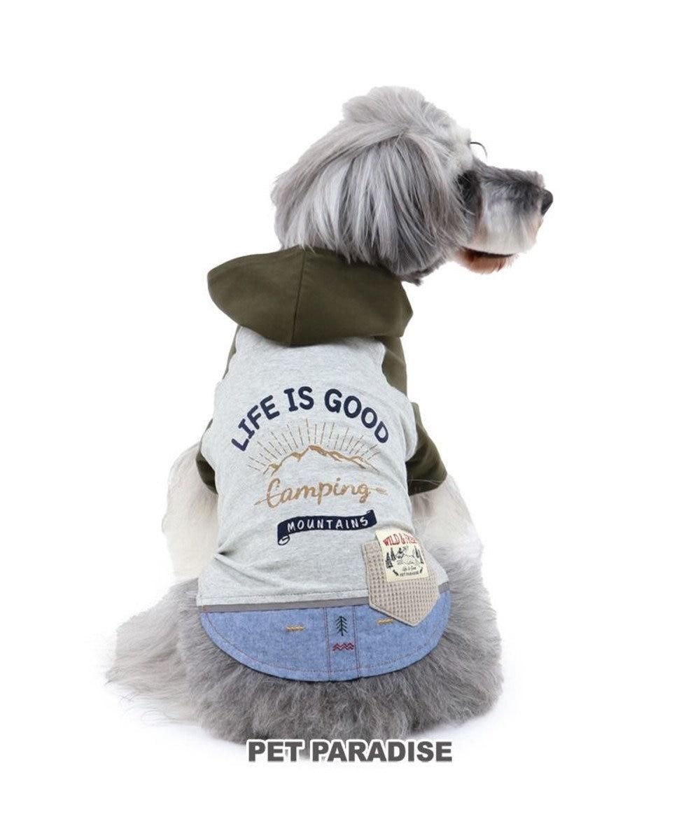 PET PARADISE 犬 服 春夏 パーカー 〔小型犬〕 リフレクト カーキ ドッグウエア ドッグウェア イヌ おしゃれ かわいい カーキ