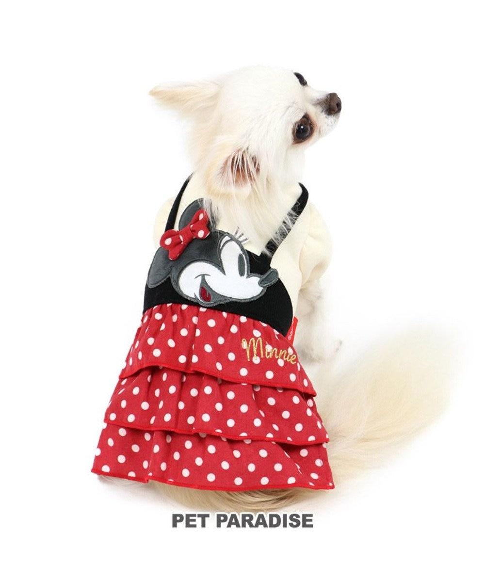 PET PARADISE 犬 服 秋服 ディズニー ミニーマウス ワンピース 〔小型犬〕 ペア柄 ペットウエア ペットウェア ドッグウエア ドッグウェア ベビー 超小型犬 小型犬 赤