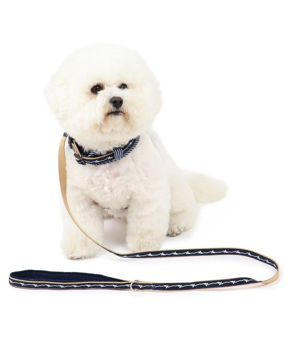 PET PARADISE 犬 リード ペットパラダイス Lee ロープロゴ柄 リード SS~S〔小型犬〕 紺(ネイビー・インディゴ)